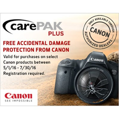 Canon CarePAK PLUS Offer (See Form for Details)