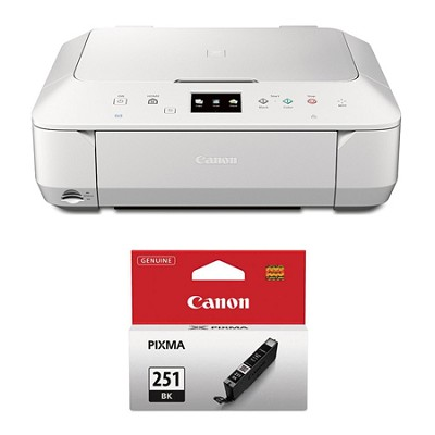 PIXMA MG6620 Wireless Color Photo All-in-One Inkjet White Printer Ink Bundle