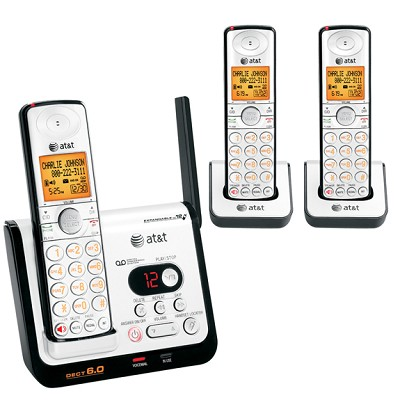 DECT 6.0 Digital Three Handset Answering System with Caller ID/Call Waiting