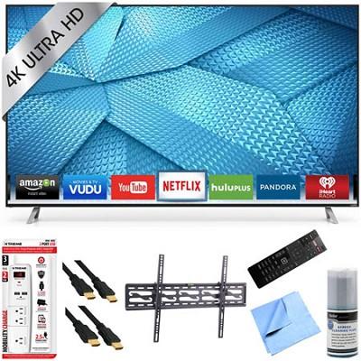 M80-C3 - 80 Inch 240Hz 4K Ultra HD Smart LED HDTV Plus Tilt Mount Hook-Up Bundle