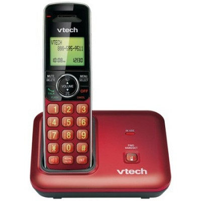 Digital Cordless Phone Dect 6.0 - Red