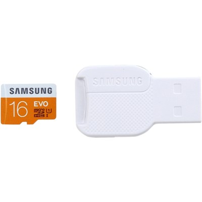 16GB EVO Class 10 microSD Card w/ USB 2.0 Card Reader - MB-MP16DC/AM