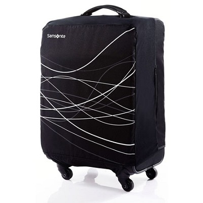 Foldable Luggage Cover, Small - Black