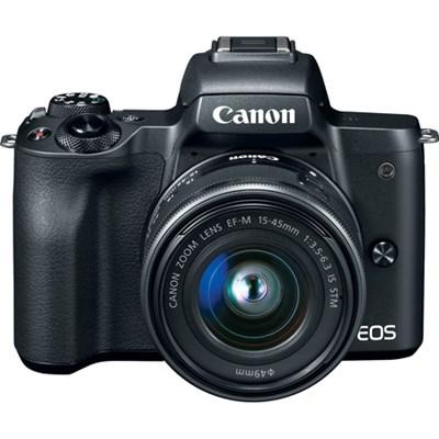 EOS M50 Mirrorless Digital Camera (Black) w/ EF-M 15-45mm IS STM Lens