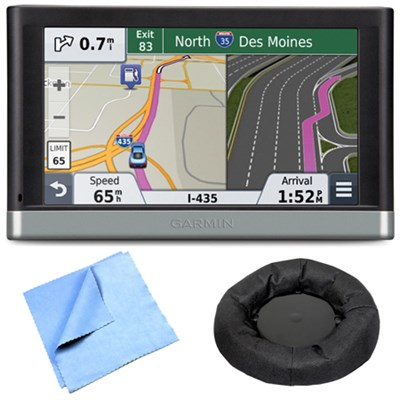 2557LMT 5` GPS Navigation System w/ Lifetime Maps Traffic Friction Mount Bundle