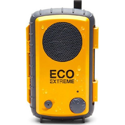 Eco Extreme 3.5mm Aux Waterproof Portable Speaker Case - Yellow