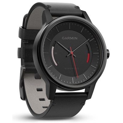 Vivomove Classic Activity Tracker - Black with Leather Band (010-01597-12)
