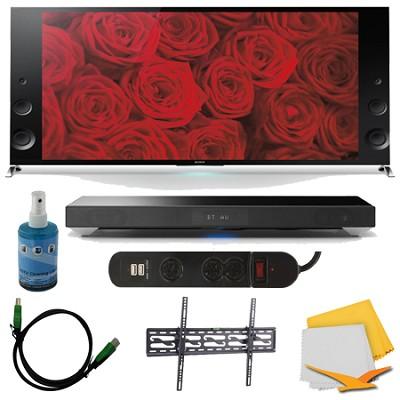 65-inch 120Hz 3D LED X900B Premium 4K Ultra HD TV Sound System Bundle