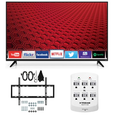 E55-C1 - 55-Inch 1080p 120Hz Smart LED HDTV Slim Flat Wall Mount Bundle