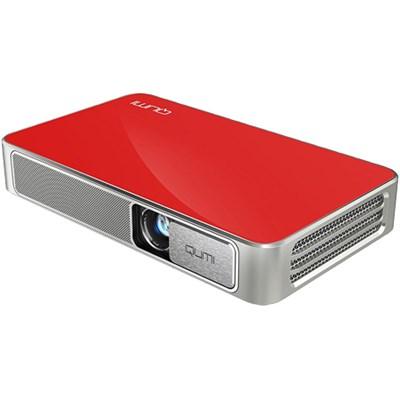 Qumi Q3 Plus 500 Lumen Ultra HD 720p Pocket DLP Projector with Wi-Fi Red Refurb