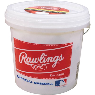 Bucket with 2 Dozen ROLB3 Baseballs