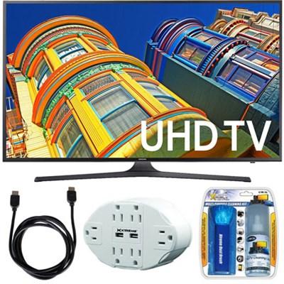 UN43KU6300 - 43-Inch 4K UHD HDR LED Smart TV - KU6300 6-Series Bundle