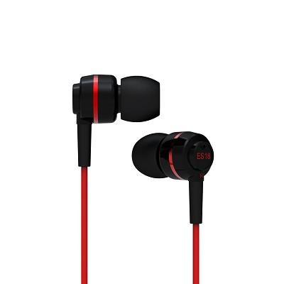 ES18 - In-Ear Headphones (Black/Red)