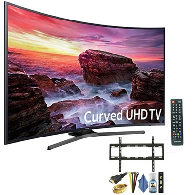 Curved 54.6` LED 4K UHD 6 Series SmartTV (2017) + 7pc TV Wall Mount kit