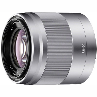 SEL50F18 - 50mm f/1.8 Telephoto Lens (Silver)