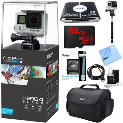HERO 4 Black - 4K Action Camera Ready For Adventure Kit