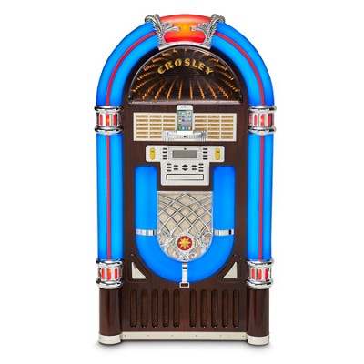 CR12-2i iJuke Infinity Deluxe Full-Size Jukebox (Cherry) by Crosley