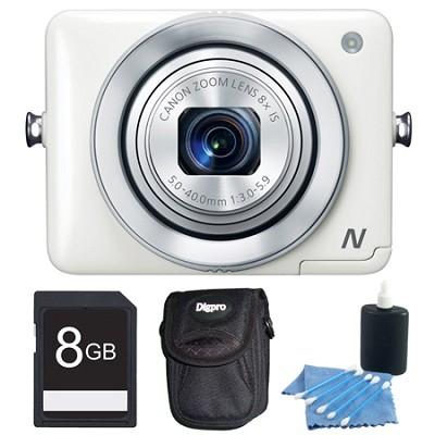 PowerShot N White 12.1MP Digital Camera 8GB Bundle