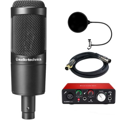 Cardioid Condenser Microphone AT2035 with Interface Bundle