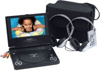 D1718  Portable 7` DVD Player