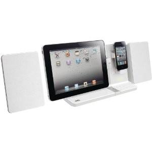 UXVJ3W iPad/iPod/iPhone Mini System 30-Watt Dual Dock (White)