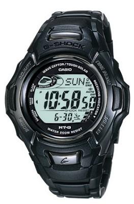 MTG910DA-1V -Men's G-Shock Atomic Tough Solar Watch - Black IP Metal Case/Band