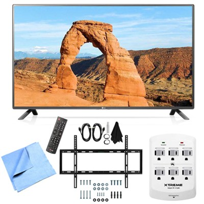 60LF6000 - 60-inch Full HD 1080p 120Hz LED HDTV Mount & Hook-Up Bundle