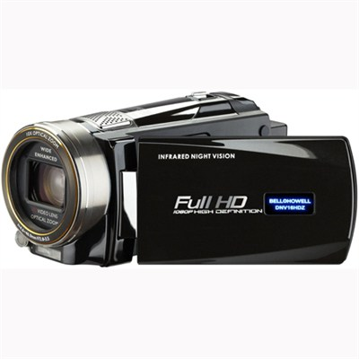 Full 1080p HD 16 MP Infrared Night Vision Camcorder - Black - OPEN BOX