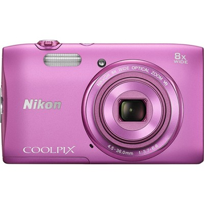 COOLPIX S3600 20.1MP 2.7` LCD Digital Camera with 720p HD Video - Pink