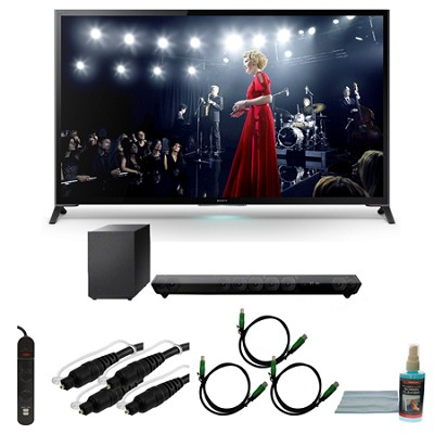 XBR65X950B - 65-Inch X950B 4K Ultra HD 3D Smart TV Motionflow XR 960 Bundle