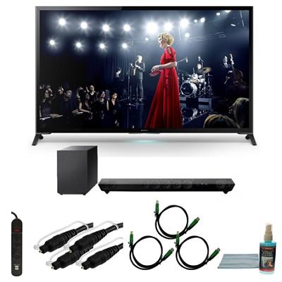 XBR65X950B - 65-Inch X950B 4K Ultra HD 3D Smart TV Motionflow XR 960 Bundle