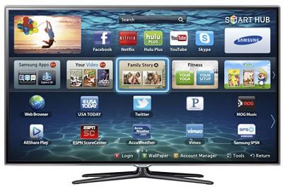 UN46ES6600 46` 1080p 120hz 3D Micro Dimming Slim LED Smart HDTV w/ 2 Glasses