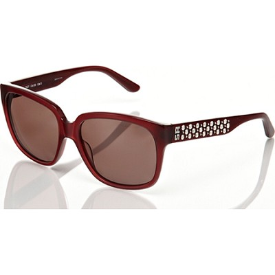 Pink-Plum Frame with Silver-Studded Detail Sunglasses