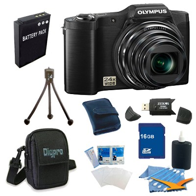 16 GB Kit SZ-12 14MP 3.0 LCD 24x Opt Zoom Digital Camera - Black