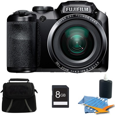 FinePix S4800 16 MP 3-inch LCD Digital Camera 8GB Kit