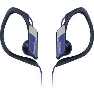 Water-Resistant Sport Clip Adjustable Earbud Headphones, Blue