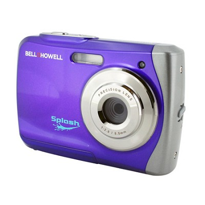 Splash WP7 12MP Waterproof Camera, Anti-Shake, (Purple)