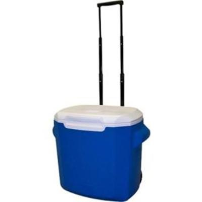 28-Quart Wheeled Cooler in White and Blue - 3000003661