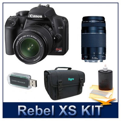 EOS Digital Rebel XS Black w/ 18-55 & 75-300 III Lenses