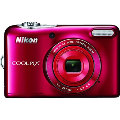 COOLPIX L32 20.1MP 720P HD Video Digital Camera - Red