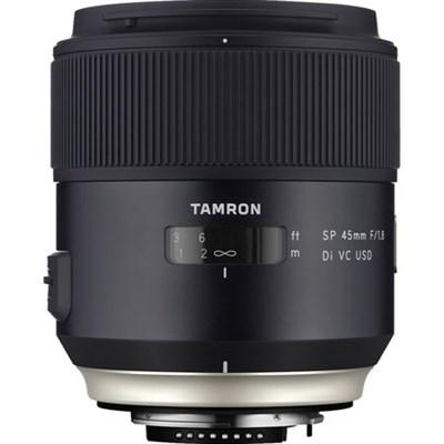 SP 45mm f/1.8 Di VC USD Lens for Nikon Mount (AFF013N-700) Refurbished