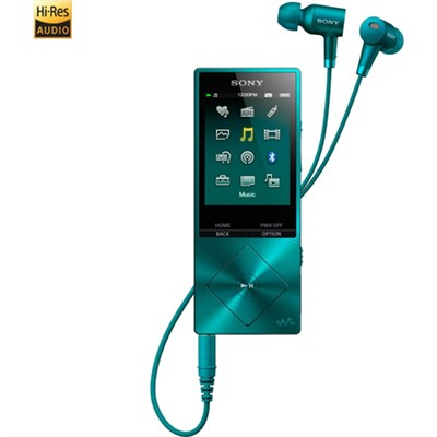 NWA26HN 32GB Hi-Res Walkman Digital Music Player with Noise Cancelation - Blue