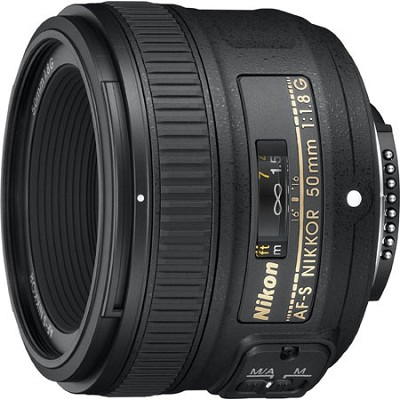 AF-S Nikkor 50mm f/1.8G Lens - Factory Refurbished