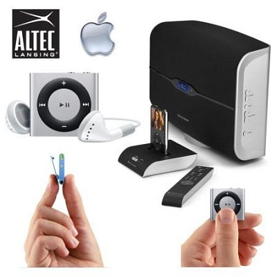 M812 Octiv Air Wireless Speaker System w iPod Dock & 2GB Apple Shuffle (Silver)