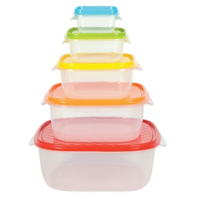 5 Piece Colorful Storage Container Set with Lids SC01199