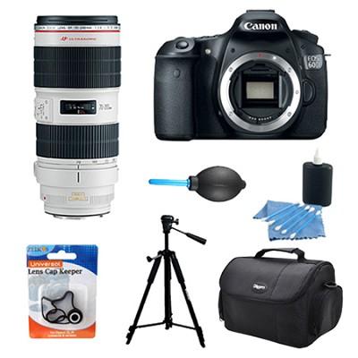 EOS 60D 18 Megapixel SLR Digital Camera w/ Canon 70-200mm f/2.8L II