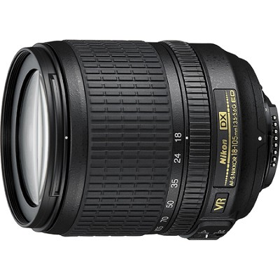 18-105mm f/3.5-5.6G ED AF-S VR DX Zoom-Nikkor Lens W/ Nikon 5-Year USA Warranty