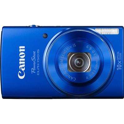 PowerShot ELPH 150 IS 20MP 10x Opt Zoom Digital Camera - Blue