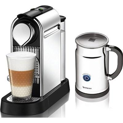 Citiz C111 Espresso Maker with Aeroccino Plus Milk Frother, Chrome