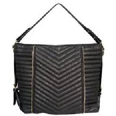 Shoulder Bag with Folds (Black) - 3082